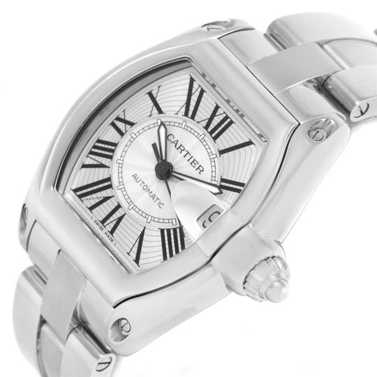 Cartier Cartier Roadster Large Silver Roman Dial Steel Mens Watch W62025V3