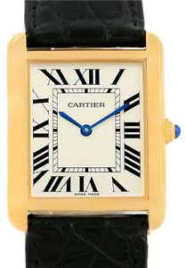 Cartier Cartier Tank Solo Yellow Gold Steel Black Strap Unisex Watch W1018855