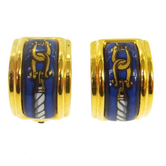 Preload https://img-static.tradesy.com/item/23105832/hermes-blue-gold-plated-enamel-clip-on-earrings-0-0-540-540.jpg