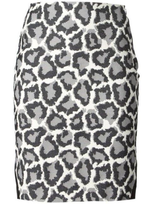 Item - Grey Black Emma Snow Leopard Pencil Skirt Size 2 (XS, 26)