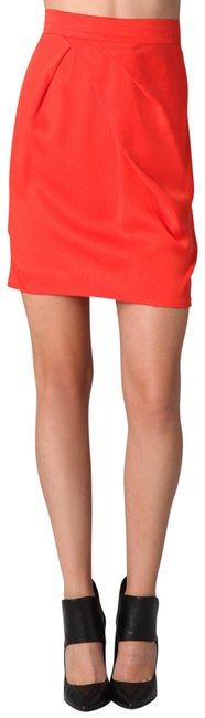 Preload https://img-static.tradesy.com/item/23105914/by-malene-birger-orange-zandro-pleated-pencil-miniskirt-size-0-xs-25-0-1-650-650.jpg