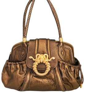 Rachel Zoe Judith Leiber Metallic Leather Snake Satchel in Bronze
