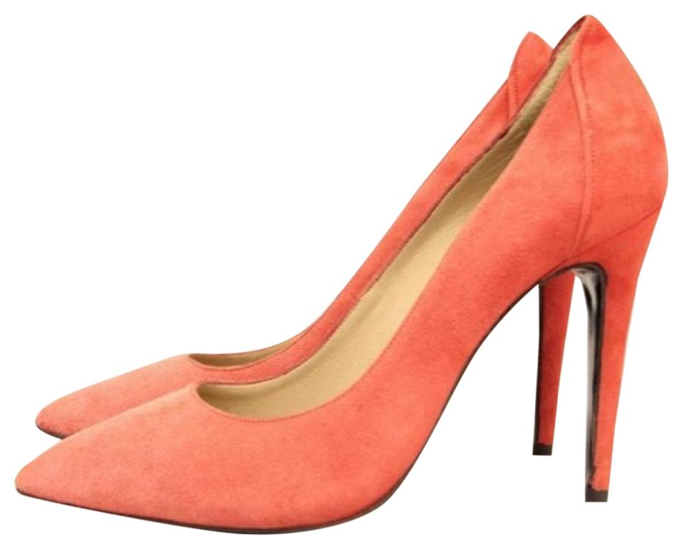 077acc4c2ad By Malene Birger Coral Suede Pointed Toe Classic Stiletto Pumps Size ...
