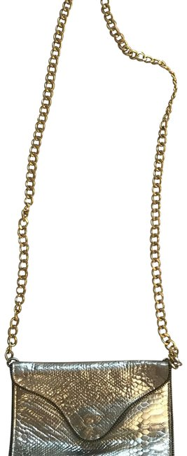 Item - From Nordstrom. Metallic with Gold Cross Body Chain. Silver Unsure Messenger Bag