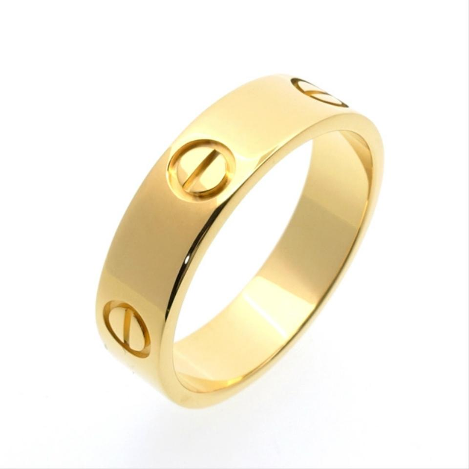 Cartier love wedding band yellow gold ring tradesy cartier cartier love wedding band yellow gold junglespirit Gallery
