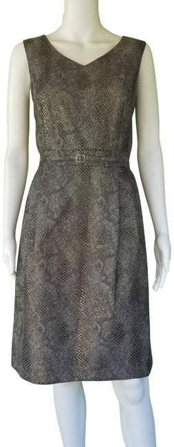 Preload https://img-static.tradesy.com/item/23106115/ellen-tracy-black-gold-snakeskin-print-short-casual-dress-size-8-m-0-1-650-650.jpg