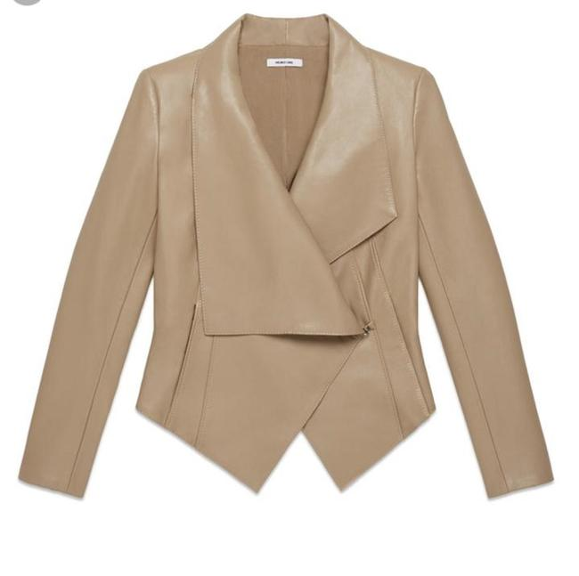 Helmut Lang Beige Tan Leather Jacket