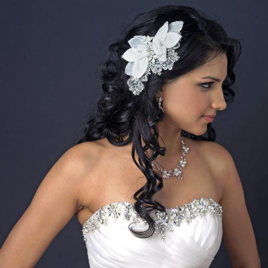 Preload https://img-static.tradesy.com/item/23106125/elegance-by-carbonneau-ivory-pearl-rhinestone-bugle-bead-accent-flower-clip-hair-accessory-0-0-540-540.jpg