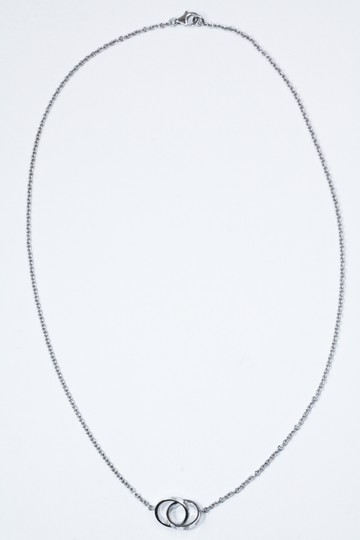 Cartier CARTIER WHITE GOLD LOVE TWO CIRCLE NECKLACE