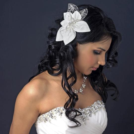 Preload https://img-static.tradesy.com/item/23106170/elegance-by-carbonneau-ivory-silver-fabric-accented-w-bugle-beads-rhinestones-hair-accessory-0-0-540-540.jpg