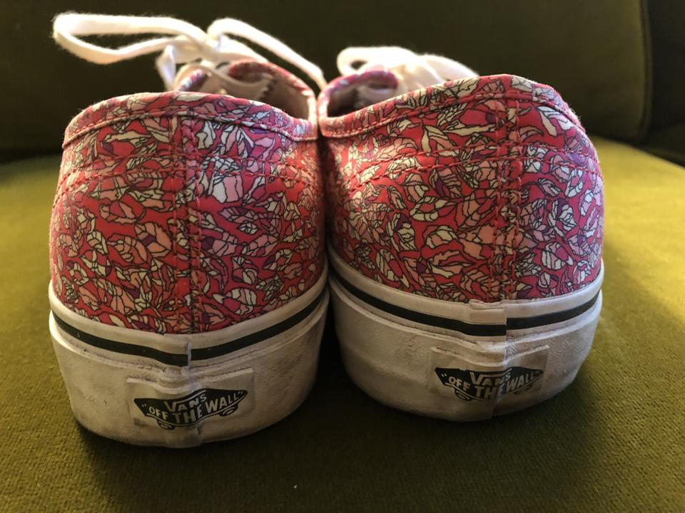 28ebe44dd821 Vans Pink Limited Edition Liberty Print Lace Up Sneakers Sneakers ...