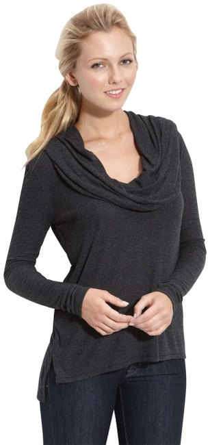 Preload https://img-static.tradesy.com/item/23106275/joie-heather-charcoal-grey-cindy-ribbed-convertible-neck-sweaterpullover-sweaterpullover-size-4-s-0-1-650-650.jpg