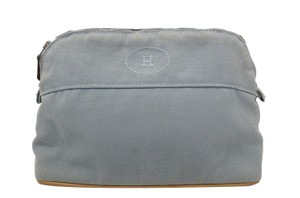 Hermès HERMES Bolide Light Blue Cosmetic Pouch Bag
