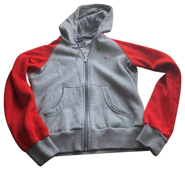 Nike Gray/Red Activewear Outerwear Size 4 (S) Nike Gray/Red Activewear Outerwear Size 4 (S) Image 1