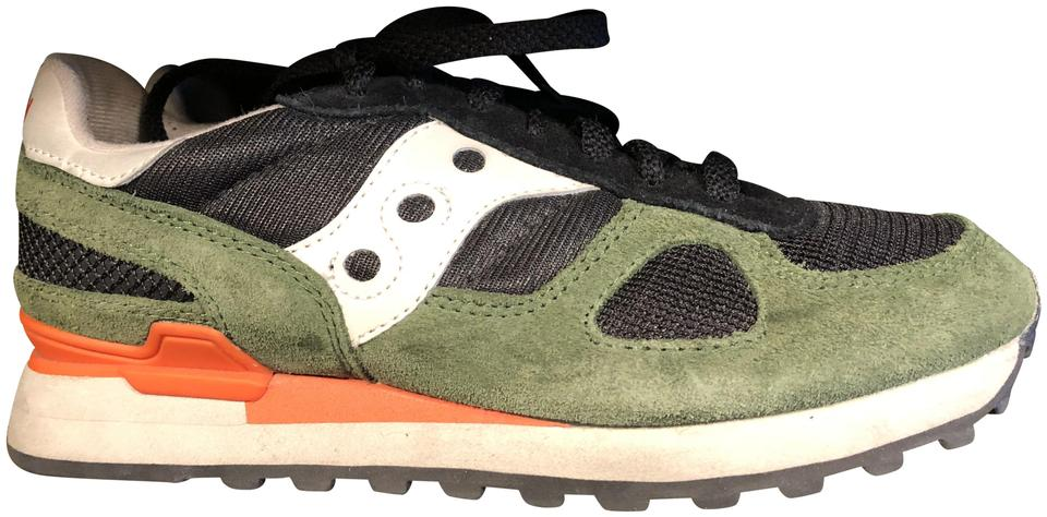 reputable site 59b7f 79fa4 Madewell Black Green Orange Saucony Shadow Limited Edition Sneaker.  Sneakers Size US 9 Regular (M, B) 37% off retail