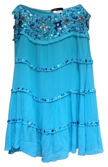 Preload https://img-static.tradesy.com/item/2310647/blue-with-sequins-beads-shells-sand-people-6990-skirt-size-12-l-32-33-0-0-650-650.jpg