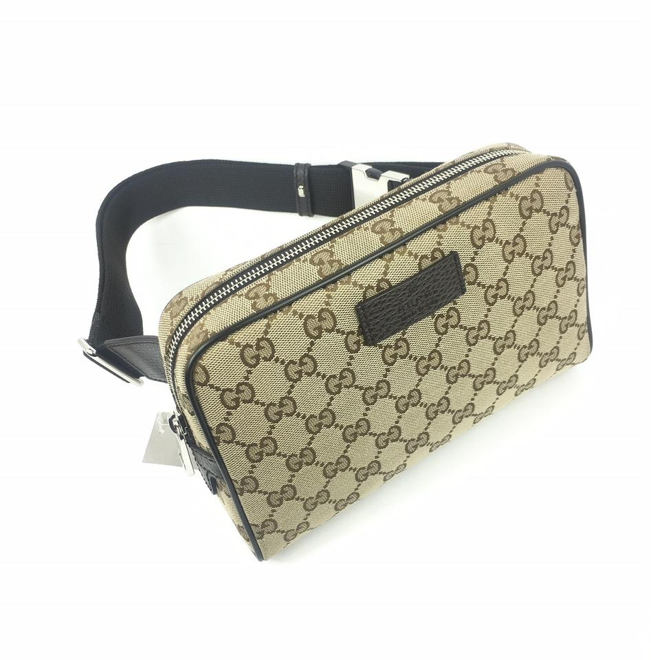 5746d4e5f768 Gucci Zip Top Belt  449174 Beige  Ebony Gg Canvas Backpack - Tradesy