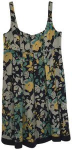 Max and Cleo short dress Blue floral Sundress Sleeveless on Tradesy