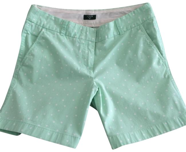 Preload https://img-static.tradesy.com/item/23106610/jcrew-mint-green-women-s-city-fit-polka-dot-shorts-size-2-xs-26-0-1-650-650.jpg