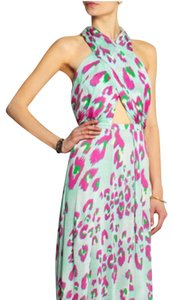 pink and blue/green Maxi Dress by Matthew Williamson