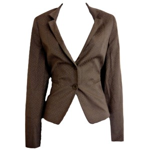 Gerry Weber Textured Weave German European Designer Gray Blazer