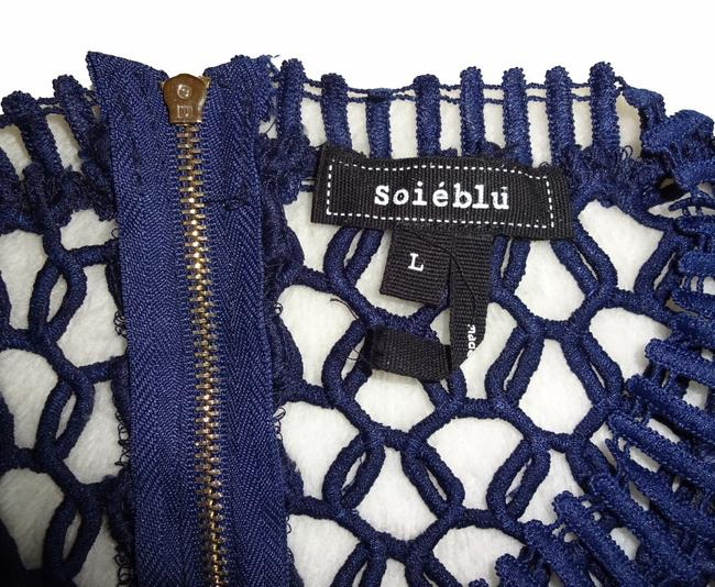 Soieblu short dress NWT_Blue Super Sexy Ladder Piping Openwork Crochet Nude Tone Lining Back Bodice Unlined on Tradesy