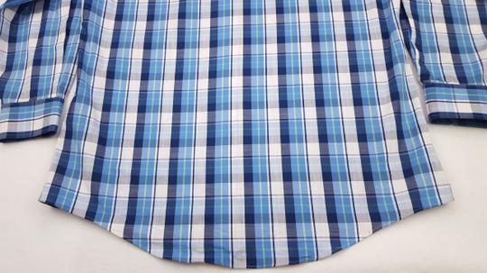 Blue Multicolor Check Xl Checked Man Size Cotton Classic Fit Skipja Shirt