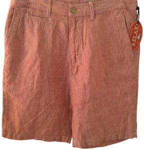 Tommy Bahama Bermuda Shorts red and white stripe