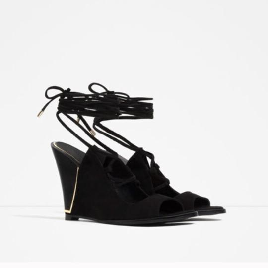 Zara Black Wedges Image 1