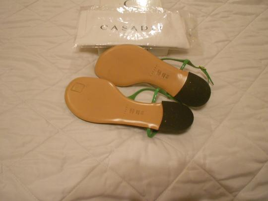 Casadei Shimmer Quality Whimsical Design Made In Italy Green Sandals Image 4