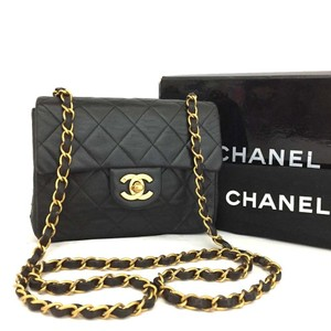 6a1247fb0d86 Added to Shopping Bag. Chanel Flap Front Cc Turn Lock Gold Hardware Mini Shoulder  Bag. Chanel Square Flap Black Lambskin Leather ...