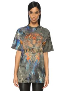 Balmain Cotton Casual Love Animal Print Urban T Shirt
