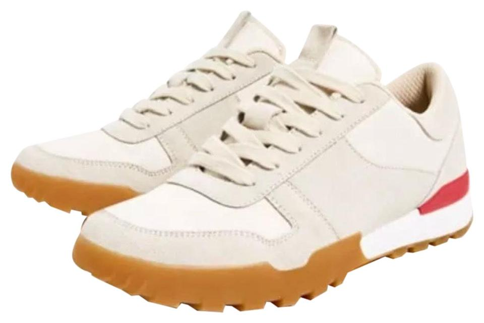 lady Sneakers Zara Ecru Leather Sneakers Sneakers lady Reasonable price f047e5