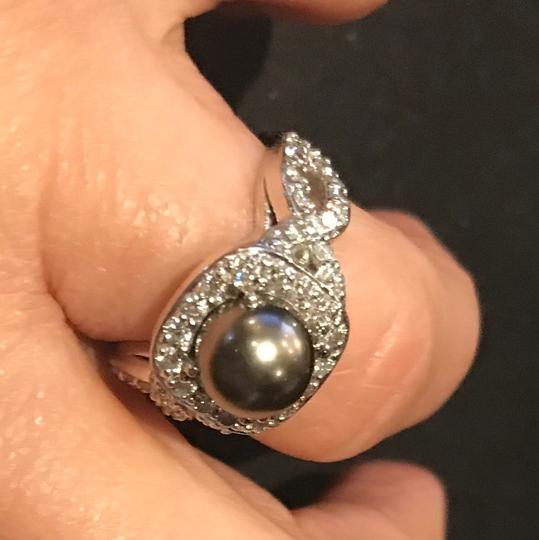 Malacan Jewelers , Can Be Sized Diamond and Pearl ring Image 1