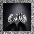 Other New 18k White Gold Filled Small Sapphire Earrings Image 1