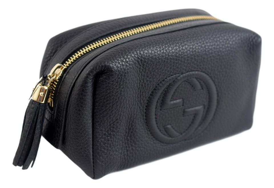 7c9bc6f59f94ba Gucci Cosmetic Bag Black Leather   Stanford Center for Opportunity ...