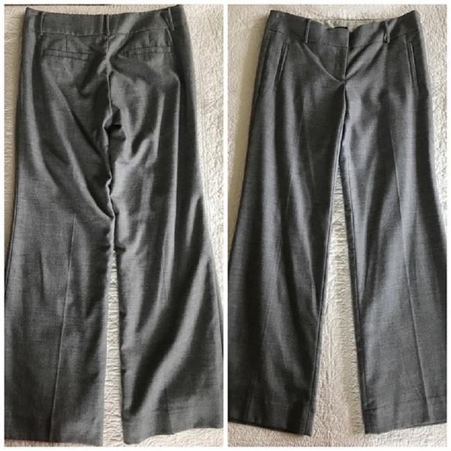 J.Crew Flannel Dress Lined Trouser Pants Charcoal Grey Image 3