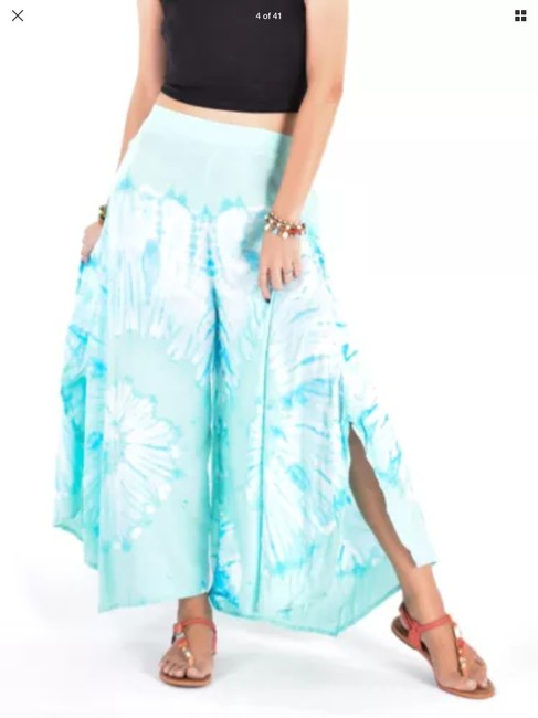 Unbranded Wide Leg Pants Blue Image 2