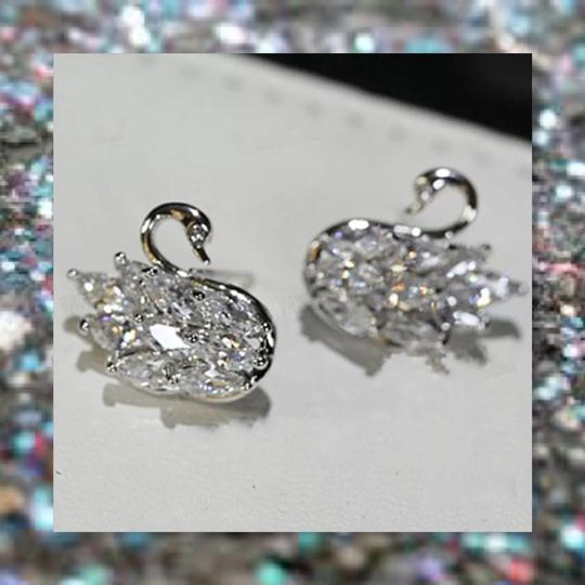 Other New 925 Silver Swarovski Crystal Earrings Image 6