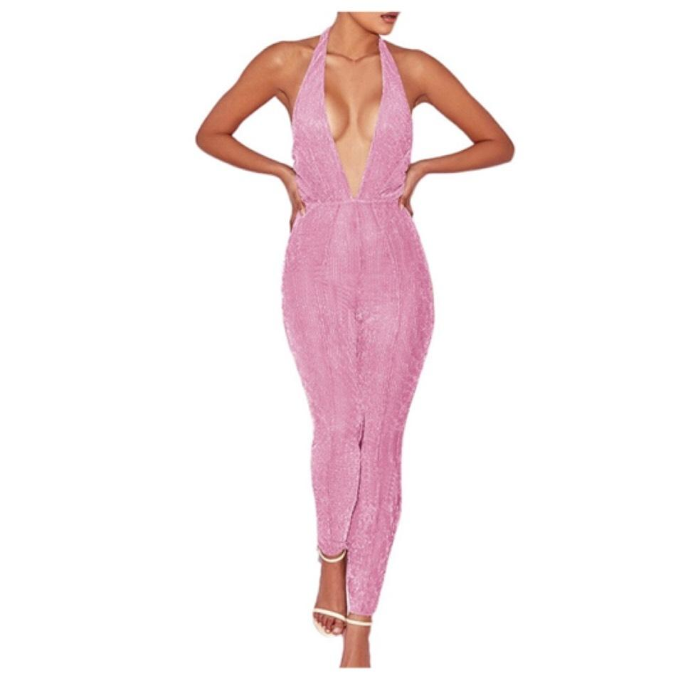 69b3e8d3a4684 Pink Sheer Jumpsuit Cover-up/Sarong Size 8 (M) - Tradesy