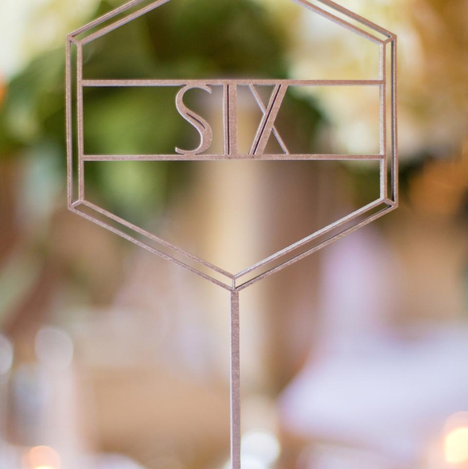 Silver Art Deco Table Numbers 1 17 Reception Decoration 42 Off Retail
