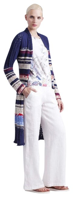 Preload https://img-static.tradesy.com/item/23107904/blue-cottonlinen-blend-coat-style-s-new-tags-cardigan-size-6-s-0-3-650-650.jpg