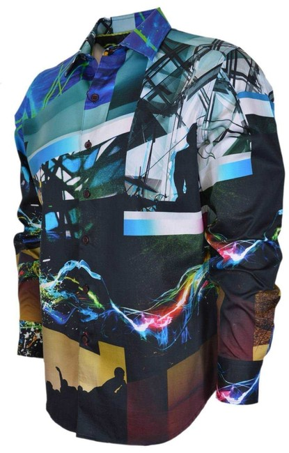 Robert Graham Shirt Limited Edition Men's Button Down Shirt Pioneertown Image 1