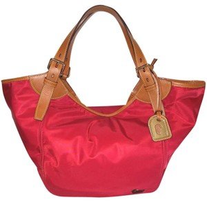 Dooney & Bourke Nylon Leather Excellent Condition Extra-large Lined Hobo Bag