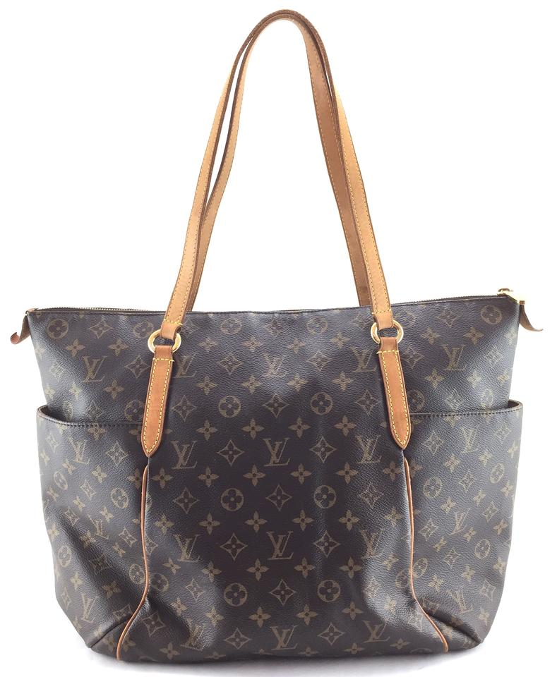 Louis Vuitton Totally  17570 Discontinued Tote Work Zip Zipper Top Large  Monogram Canvas and Vachetta Leather Shoulder Bag a0b0eaf36bee0