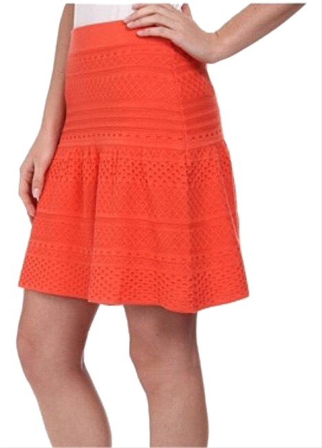 Item - Orange Coral Anea Peplum Skirt Size 0 (XS, 25)