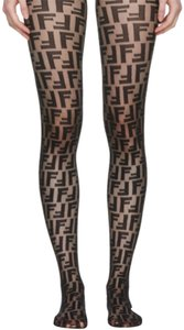 Fendi fendi logo tights