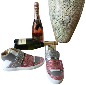 MM6 Maison Martin Margiela Glitter Sneakers Summer Pink Silver Athletic