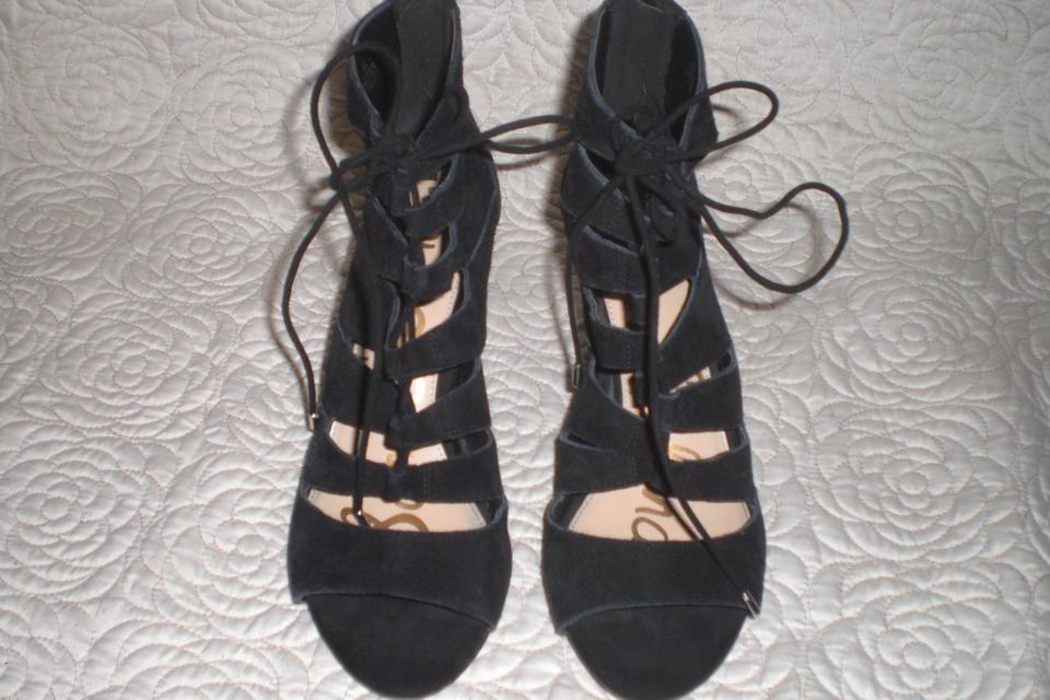 05208ee8741fe Sam Edelman Black Sam-edelman-039-santina-039-lace-up-wedge-sandal ...