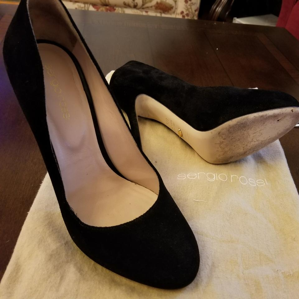 70966af7e5ce Sergio Rossi Black Suede Round Toe Pumps Size US 8.5 Regular (M